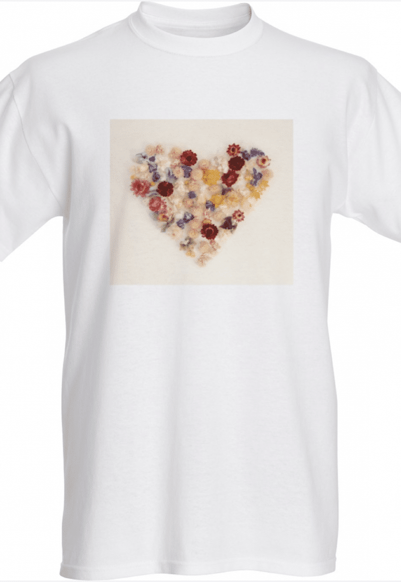 Indeco Flowers Heart T-shirt